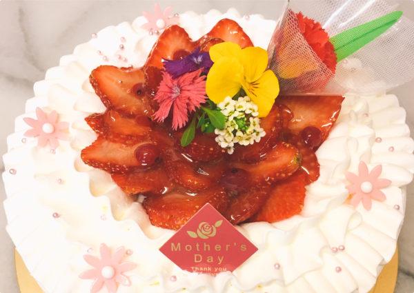 母の日デコレーションケーキご予約受付中!